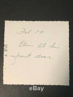 Rare 1957 Elvis Presley Candid Photo Taken At Front Door Audubon Drive Home
