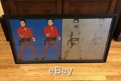 Rare Andy Warhol Double Elvis Presley Color to Negative Print Framed Elvis 1 & 2