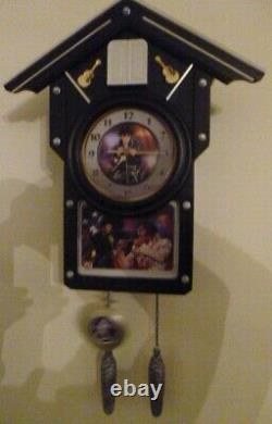 Rare Collectable Bradford Exchange Elvis Presley Cuckoo Clock For All Time