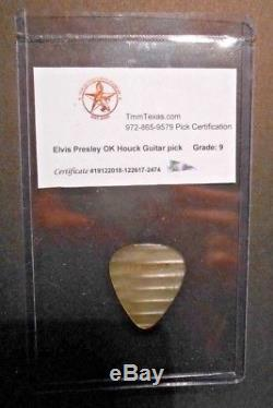 Rare! ELVIS PRESLEY owned 1950's OK Houck Piano Co. Guitar pick with COA