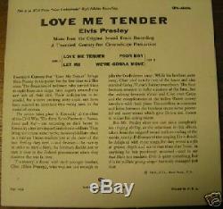 Rare Elvis Presley Epa-4006, Love Me Tender Orange Lb