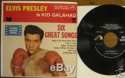 Rare Elvis Presley Epa-4371, Dos, Kid Galahad, Nm