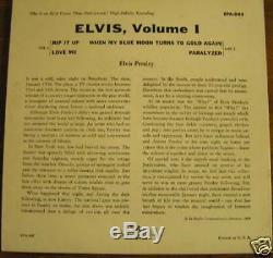Rare, Elvis Presley Epa-992, Elvis, Vol. 1, Dos, Exc