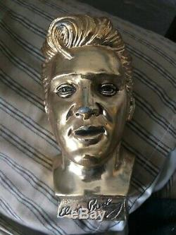 Rare Elvis Presley Gold-Plated Bust by E. P. E 1961
