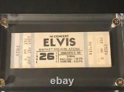 Rare Elvis Presley Original Market Square Arena Indianapolis June 26 1977 Ticket