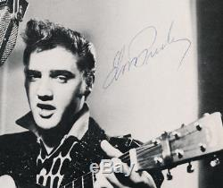 Rare Elvis Presley Signed 8x10 Photograph, circa 1956 JSA