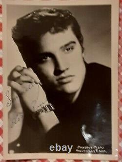 Rare Elvis Presley Signed Las Vegas Photo (Autograph Authenticated)