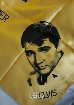Rare Elvis Presley international hotel summer festival handkerchief yellow