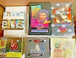 Rare Factory Sealed Elvis Trading Cards Press Pass Hobby Inkworks 6-box Lot