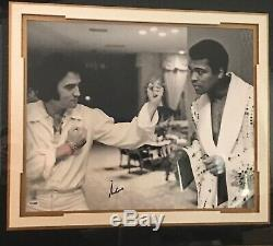 Rare Framed Photos Of Muhammad Ali And Elvis Presley Certified And Signed