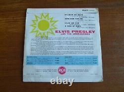 Rare French Ep Elvis Presley It's Now Or Never 1960 Yellow Rca 75619 Rockabilly