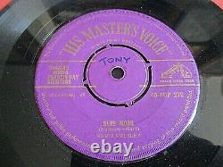 Rare Gold Hmv 7 Vinyl Record-elvis Presley-blue Moon-1956 45-pop-272-superb Ex