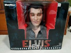 Rare NOS 2007Elvis PresleyWowWee AliveAnimatronic Singing & Talking Bust! New