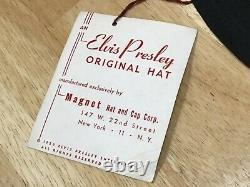 Rare Old MINT CONDITION 1956 ELVIS PRESLEY ENTERPRISES Large Size Hat with Tags