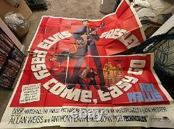 Rare Original 1967 ELVIS PRESLEY Easy Come, Easy Go 6-Sheet Movie poster, 81x81