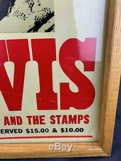 Rare Original Elvis Presley June 27th 1976 Framed 23'x15 Concert Poster Vintage