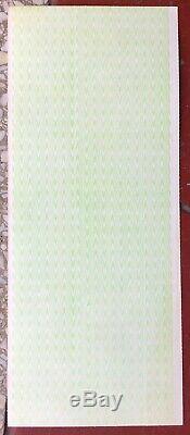 Rare Original Unused'77 Elvis Presley Terre Haute In Concert Ticket Uncut Sheet