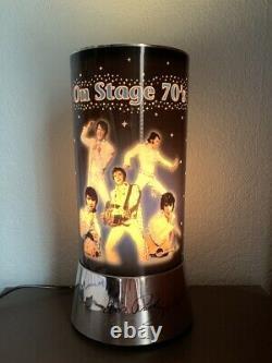 Rare VINTAGE 1980s ELVIS PRESLEY ON STAGE 70s MOTION LAMP rotating light 12high