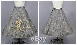 Rare Vintage 1956 Elvis Presley Felt Circle Skirt, EPE 50s Elvis Skirt, 27 Waist