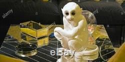 Rare Vintage White Porcelain Monkey Statue Elvis Presley Graceland Tcb Personal