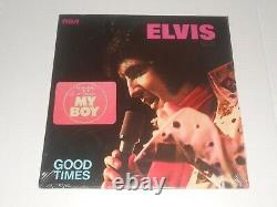 Rare elvis presley sealed 1974 good times lp with my boy hype