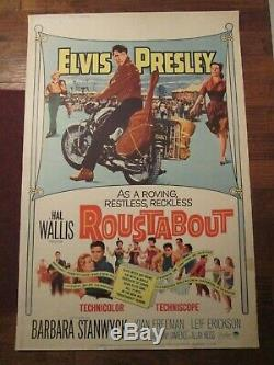 Roustabout Original 40 x 60 Rare Movie Poster- Elvis Presley