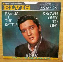 SUPER RARE PROMO PACKAGE Elvis Presley JOSHUA FIT THE BATTLE 447-0651