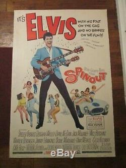 Spinout Original 40 x 60 Rare Movie Poster- Elvis Presley