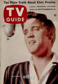 TV Guide 1956 Elvis Presley 1st GAI Graded EX-MT 1st App Issue 180 Magazine Rare