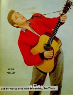TV Guide 1956 Elvis Presley Regional TV Prevue EX/NM COA Extremely Rare