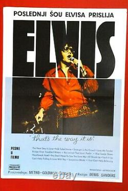 Thats The Way It Is Elvis Presley 1971 Rare Exyu Movie Poster