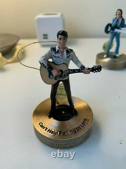 The Bradford Editions Elvis Presley Solid Gold Musical Ornament Collection Rare