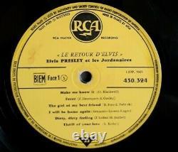 Trés Rare LP 33T Elvis Presley Le Retour D' Elvis or. Fr 05/60 Label Jaune