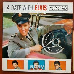 ULTRA-RARE NEAR MINT Original Elvis Presley A DATE WITH ELVIS LPM-2011