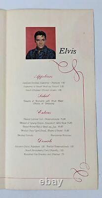 ULTRA RARE Vintage 1969 ELVIS PRESLEY Showroom Internationale Hotel 1st MENU