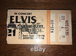 Ultra Rare Elvis Presley In Concert June 21, 1977 Cbs Special Tv Ticket! Tcb