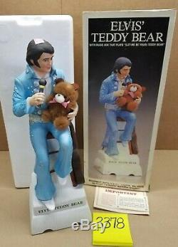 VERY RARE Elvis Presley Teddy Bear Decanter Large 750ml McCormick Sealed with box