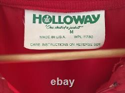 VINTAGE 1970s NYLON ELVIS PRESLEY ULTRA RARE TCB HOLLOWAY RED TOUR JACKET MED