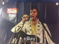 Very Rare 1977 The Sun Newspaper Fullsize Elvis Presley Poster