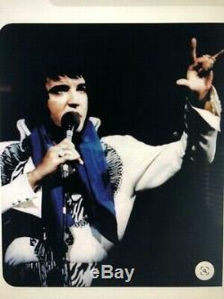 Very Rare Elvis Presley Concert Navy Scarf Jackson, Mississippi June 9, 1975