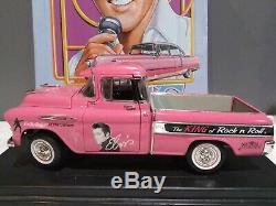 Very Rare Elvis Presley The King Of Rock'n' Roll 1957 Chevy Pink Pickup Model