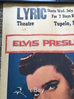 Vintage 1957 ELVIS PRESLEY LOVING YOU MOVIE POSTER LOBBY WINDOW CARD TUPELO Rare