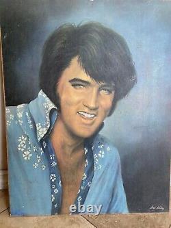 Vintage 1976 Elvis Presley Poster Print 22 x 28 by Loxi Sibley RARE