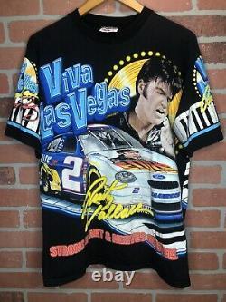 Vintage 1998 Elvis Presley Nascar T Shirt Mens Size Large Rare