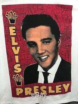 Vintage 90s Elvis Presley Mosquitohead Photo Print T-Shirt Size 3X Rare