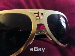 Vintage Authentic Elvis Presley Pro Sunglasses EP Logo EPE Rare Unique TCB Brass