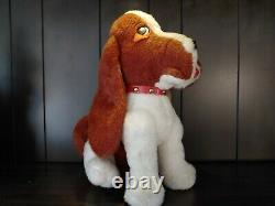 Vintage Elvis Presley Hound Dog Plush Stuffed Dog By The Rushton Company (RARE)