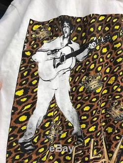 Vintage Elvis Presley Mosquitohead White T Shirt Sz XL Rare 80s 90s Rock Rap
