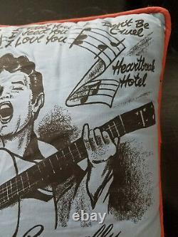 Vintage Elvis Presley Pillow, 1956, Rare, 1950's, Rock and Roll Memorablia