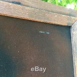 Vtg ELVIS PRESLEY Painting Black Velvet LARGE 26 x 20 Rustic Frame Rare Image
